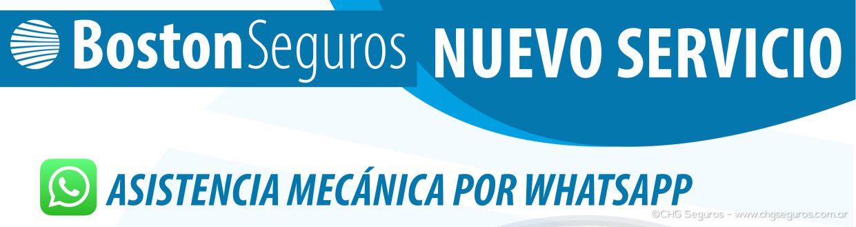 BOSTON SEGUROS: NUEVO SERVICIO DE ASISTENCIA MECANICA POR WHATSAPP